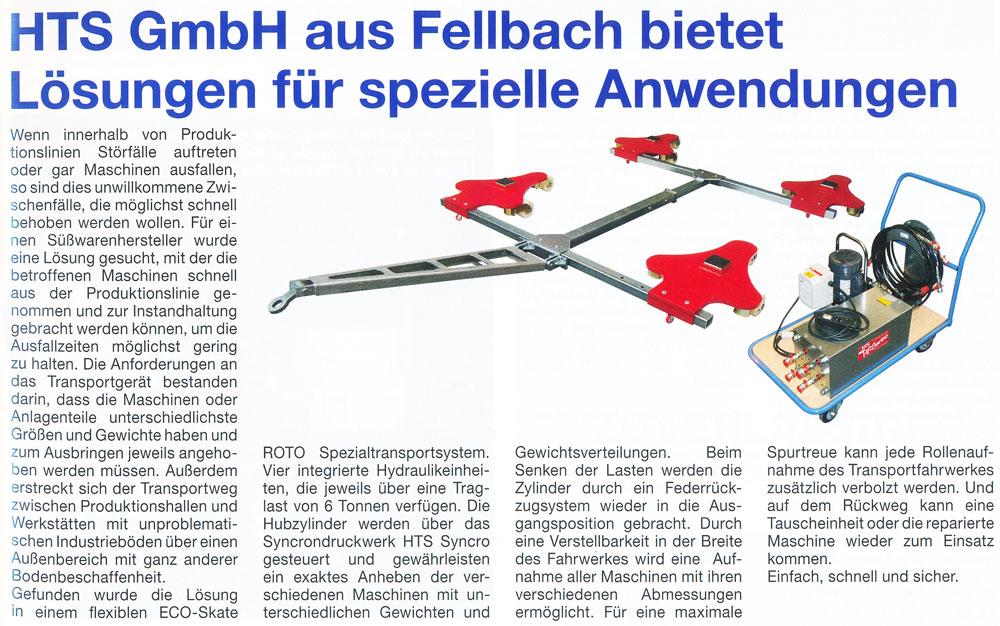 ROAD Journal 02/2013 - HTS GmbH aus Fellbach bietet Lösungen für spezielle Anwendungen